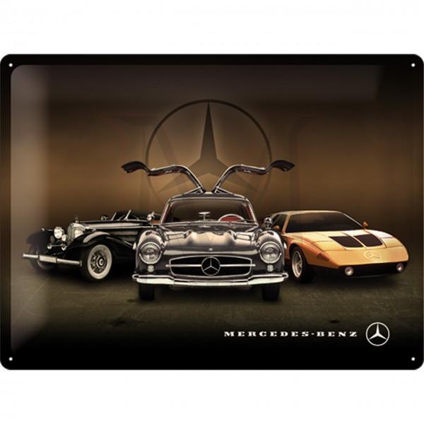 Mercedes-Benz Tin Sign 3 Cars
