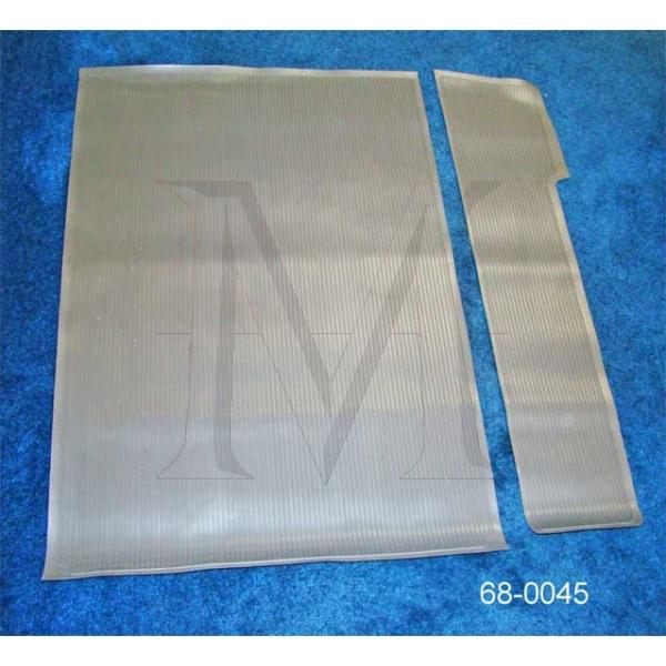 TWO PIECE RUBBER TRUNK MAT SET