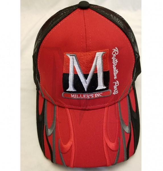 Millers Inc Hat, Red/Black