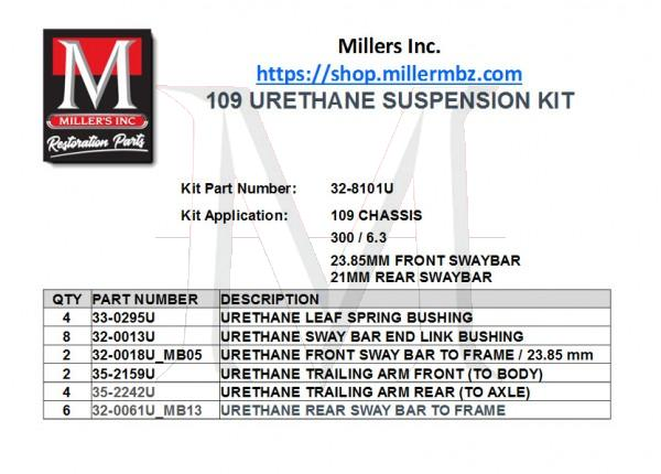 109 URETHANE SUSPENSION KIT