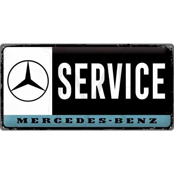 Mercedes-Benz Tin Sign Service 25x50 cm