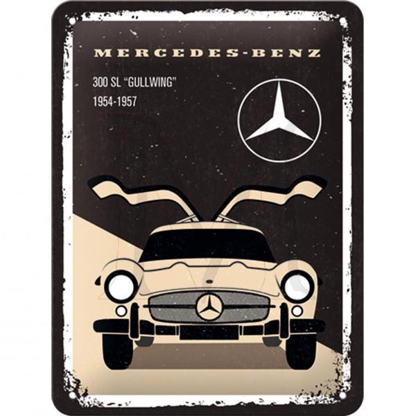 Mercedes-Benz Tin Sign 300 SL beige