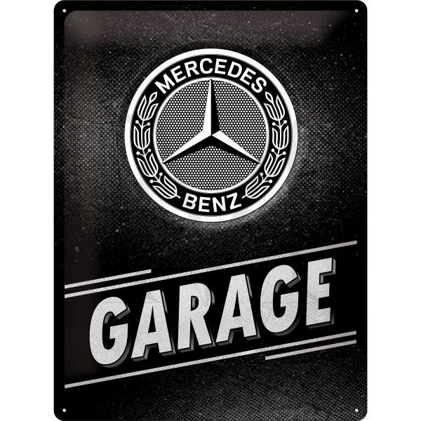 """Mercedes-Benz """"Garage"""" Tin-Plate Sign"""