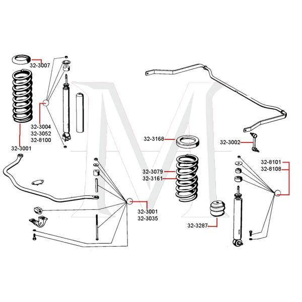COIL SPRING SEAT - REAR
